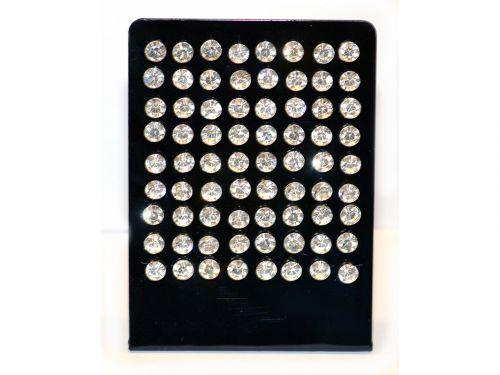 Ασημένιο σκουλαρίκι αυτιών 6mm κολλητό λευκό στρας