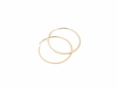 Κρίκος πλακέ Χρυσός 60mm