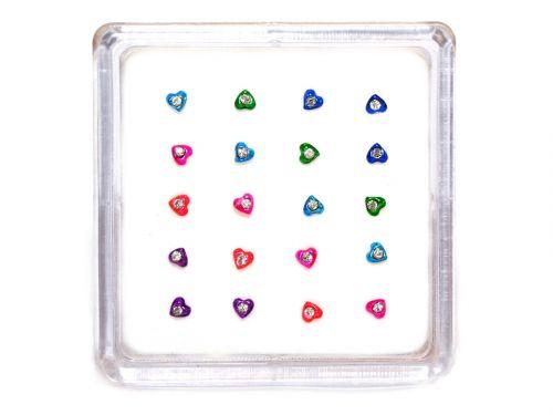 Σκουλαρίκι μύτης καρδιά με πέτρα