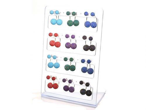 Ασημένιο σκουλαρίκι αυτιών κρεμαστή περλα χρώμα